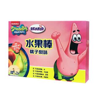 Beakid 桃子梨味 美国海绵宝宝水果棒 不添加蔗糖固体果泥36g