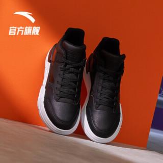 安踏 ANTA 官方旗舰男鞋小白鞋白搭板鞋潮流运动鞋男子休闲鞋 黑/安踏白-2 8(男41)