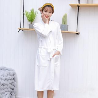 BANDALY 2019夏季女装新款睡觉衣休闲舒适长款日式开衫洗澡袍子 HCRR1601W 黄色 XL