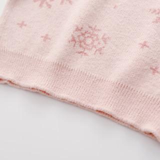 cicie童装女童毛衣线衫花朵针织衫女孩儿童上衣C93203 粉色 120/60