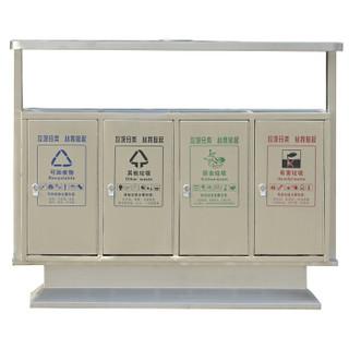 YG 大号不锈钢户外垃圾桶不锈钢果皮箱大号环卫分类小区垃圾箱全201不锈钢 123*40*100 垃圾分类桶