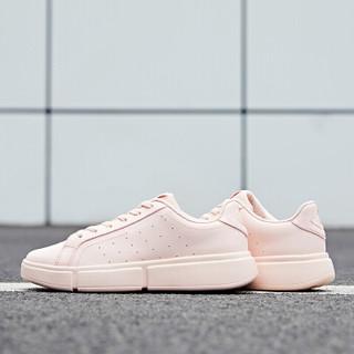 乔丹 板鞋女厚底增高粉色运动鞋女休闲鞋小白鞋 XM2690506 海贝粉/白色 39