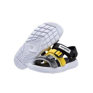 巴拉巴拉旗下梦多多mongdodo童装男童凉鞋2019新款中大童凉鞋71142191157黄灰色调036