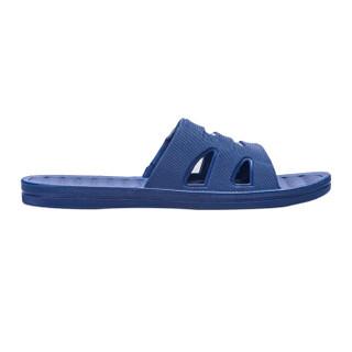 双星情侣款时尚休闲室内居家浴室洗澡防滑男女拖鞋 A6122 深蓝(男款) 43