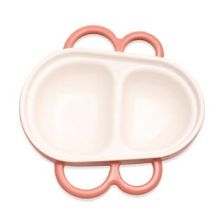 好伊贝 儿童碗 婴儿分隔辅食碗 注水保温碗 宝宝辅食碗儿童餐具 威尼斯红