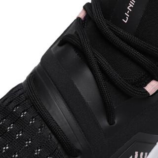 李宁 LI-NING 女子减震回弹潮流休闲鞋AGLP076-4 标准黑/标准白 35