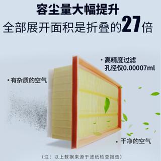 卡卡买 铂晶空气滤芯滤清器汽车空气滤长安逸动1.5T/1.6(2012-2016) KU555