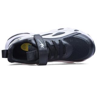 双星童鞋男女儿童鞋跑步鞋潮流运动休闲鞋透气舒适耐磨防滑春款 ET-9028 黑白 35码(225)