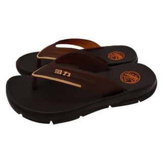 回力人字拖男软底居家户外沙滩防滑耐磨拖鞋轻便流行百搭 HL0791 棕色 42