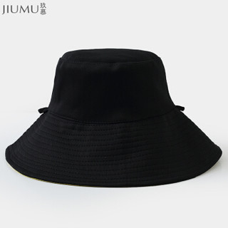 玖慕(JIUMU)遮阳帽渔夫帽女夏季户外海边沙滩帽防紫外线防晒帽太阳帽凉帽文艺帽子女双面可戴 CW007黄色
