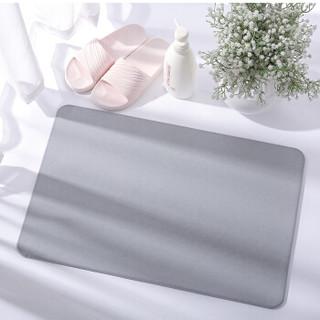 宫薰 硅藻泥地垫 家用卫生间防滑垫脚垫浴室卫浴硅藻土吸水地垫进门垫 灰色39*60cm