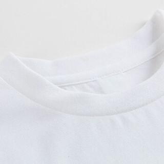 三枪童装儿童短袖T恤 水柔棉儿童男童女童中大童圆领短袖衫T恤 2C229A0 兔斯基白 140