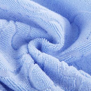 北极绒全棉毛巾被纯棉加厚老式毛毯单人双人素色提花四季居家办公午睡夏季空调毯盖毯子床单 欧雅蓝150*200cm