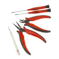 RS Pro欧时182284电信通讯电工工具套装含5件,斜口剪,线剪,镊子,螺丝刀起子电子工具套件含包