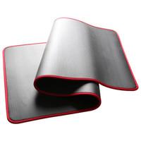 瑜伽垫男女升级包边高密度加厚防滑初学者运动健身垫 黑色 厚10mm