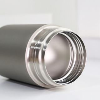Face焖烧杯316不锈钢真空焖烧壶保温粥桶焖烧罐带提绳便携保温杯饭盒 550ML FN56 纯灰色