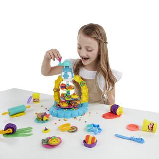 孩之宝(Hasbro)培乐多彩泥橡皮泥DIY男女孩儿童玩具礼物 天然小麦粉制作 创意厨房系列 多彩曲奇塔套装E5109