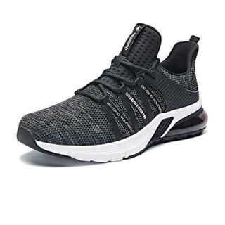 乔丹 男鞋轻便休闲鞋气垫减震跑步鞋 XM2590205 黑色/鲨鱼灰 44