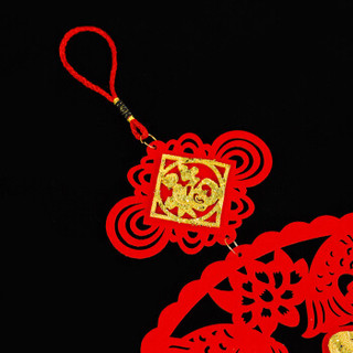 柯丽影  结婚庆用品装饰挂件 乔迁 节庆 镇宅装饰用品 毛毡平面挂件 扇形金福
