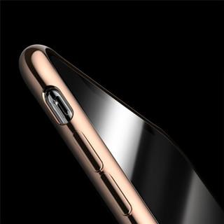 悦迪(yuedi)苹果X/XS手机壳iPhone保护套电镀透明硅胶软边全包防摔气囊转音防尘原机调色德国拜耳 电镀金