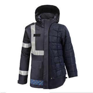 安美尚(ams)UB-015 反光棉雨衣 秋冬深色藏青黑色 夜间执勤保暖雨衣 上衣外套 XXXXL码1件