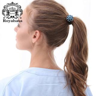 皇家莎莎(Royalsasa)发绳花朵发圈扎头发头绳皮筋马尾头饰发饰品