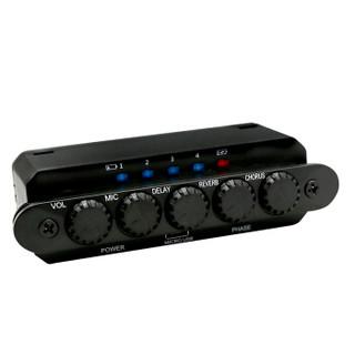 SKYSONIC免开孔原声木吉他拾音器民谣吉它音孔加振拾音器天音 可打板R2黑色