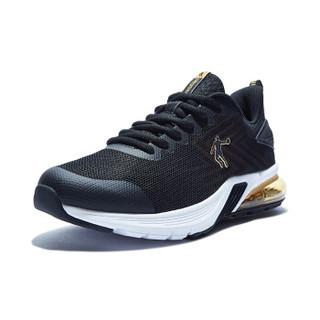乔丹 男鞋运动鞋舒适耐磨轻便跑步鞋男 XM1590229 黑色/金色 43