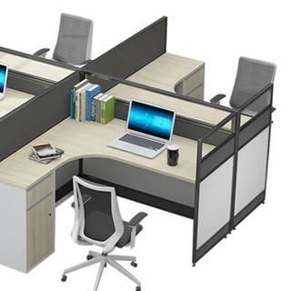 金海马/kinhom 卡诺系列 办公桌 组合职员桌 屏风卡位 员工位 2.8米四人位 7605-P501#