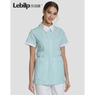 乐倍康(Lebilp)护士服女秋冬蓝色护士上衣美容院医院工作服 浅绿色短袖 M