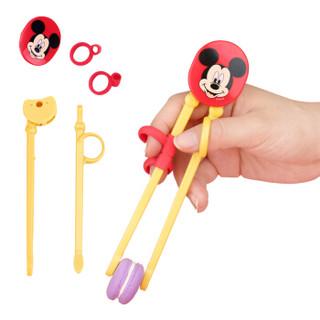 迪士尼儿童餐具5件套 宝宝辅食卡通餐盘带盖单柄水杯碗筷子勺子叉子礼盒装 米奇