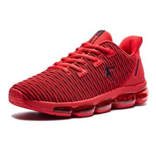 乔丹 男鞋缓震气垫耐磨防滑跑鞋 XM4580251 极光红/黑色 42.5
