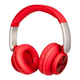 麦博 Microlab Q3 立体声头戴式蓝牙耳机 无线运动 手机电脑游戏耳麦 重低音 男女通用带麦克风耳机 红色