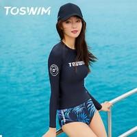 TOSWIM 拓胜 TS81120627 女款分体泳衣