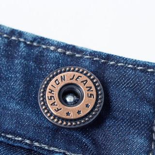 北极绒(Bejirog)牛仔裤男时尚舒适商务休闲直筒长裤 N8903 蓝黑 36