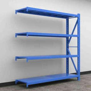富路达 仓储货架家用置物架超市仓库储物架中型重型仓储250kg/层 长180*宽60*高200cm蓝色副架