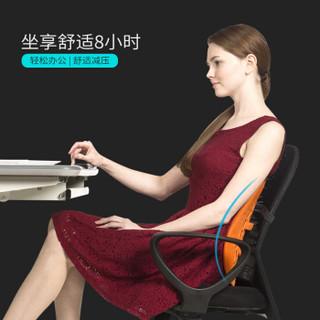普格瑞司 电脑椅腰靠 人体工学家用办公椅靠垫 汽车座椅靠背垫PH -15DS灰色
