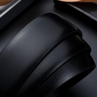 皮尔卡丹(pierre cardin)腰带 男士商务休闲自动扣皮带 青年腰带男裤带 黑色 125