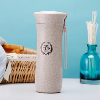 爱思得(Arsto)稻壳水杯创意小麦纤维随手杯子运动水杯5172麦色