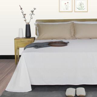 然牌 全棉床单 纯棉60支高支高密床上用品床单单件 纯白色 230*250cm