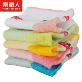 南极人(Nanjiren)儿童袜子薄款男女童袜子网眼提花棉袜 女童-草莓5双装 XL(适合7-9岁)
