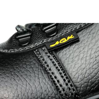 十二苓芝 劳保鞋男113工作鞋防砸防刺穿钢包头耐磨橡胶大底舒适透气 黑色 40
