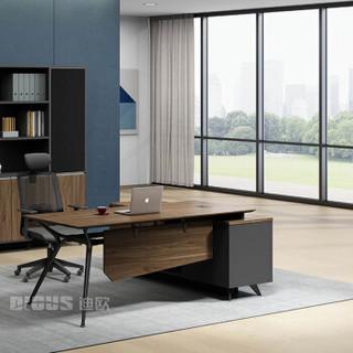 百思宜 办公家具老板桌办公桌总裁桌椅 现代简约经理桌主管桌大班台 老板桌1.8米