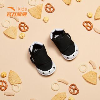 安踏(ANTA)童鞋 男婴童休闲鞋魔术贴童鞋宝宝鞋儿童运动鞋软底机能鞋31814050黑/荧光亮白23