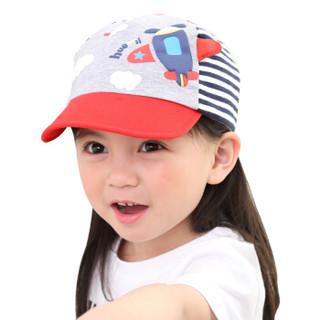 hugmii儿童帽子春夏潮版卡通鸭舌帽宝宝遮阳棒球帽1-4岁 飞机 48/52