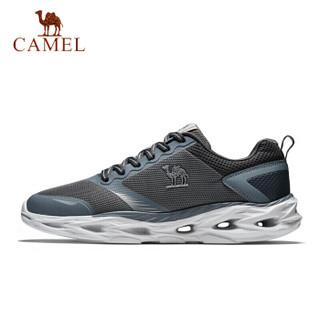 骆驼(CAMEL) 运动鞋 男鞋轻便跑步鞋减震耐磨休闲跑鞋男 A812318425 男款深灰 43