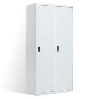 洛克菲勒 二门更衣柜铁皮柜办公员工多门储物柜浴室简易衣柜