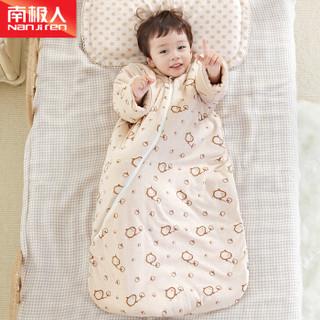 南极人(Nanjiren)婴儿睡袋棉质秋冬款防踢被新生儿宝宝棉花芯儿童可脱袖企鹅蘑菇-加厚款85码