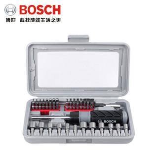 博世(Bosch)46件套 棘轮内六角套筒十字进口螺丝刀起子机批头组合工具套装 46件套