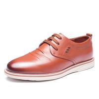 奥康(Aokang)男士韩版潮流鞋日常休闲低帮鞋183331048棕色43码